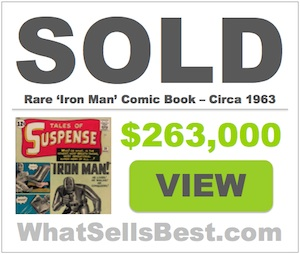 Today s best selling comic book values top sales prices on ebay