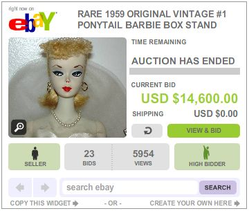Ebay Selling Collects 14 000 For Barbie Doll