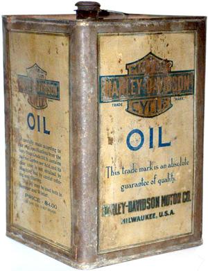 Vintage Harley Davidson Oil Can