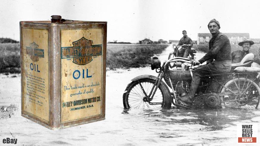 Sold 10 655 For 1909 Harley Davidson Oil Can On Ebay